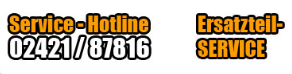 Service-Hotline 02421 87816